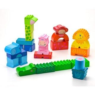 Haba Zippity Zoo Colorful Wooden Animal Blocks