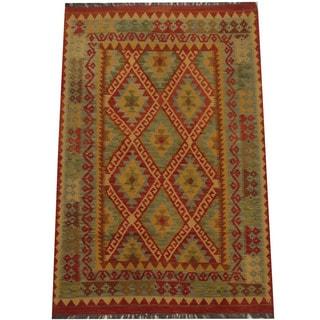 Herat Oriental Afghan Hand-woven Tribal Kilim (3'11 x 6')