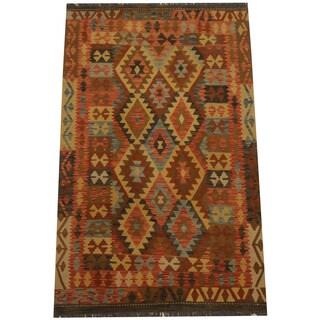 Herat Oriental Afghan Hand-woven Tribal Kilim (4'2 x 6'9)