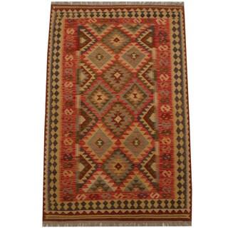 Herat Oriental Afghan Hand-woven Tribal Kilim (4'1 x 6'8)