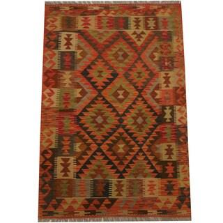 Herat Oriental Afghan Hand-woven Tribal Wool Kilim (3'5 x 5'1)