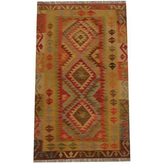 Herat Oriental Afghan Hand-woven Tribal Kilim (3'2 x 5'3)