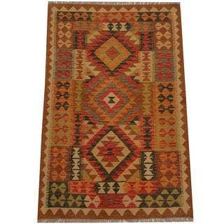 Herat Oriental Afghan Hand-woven Tribal Kilim (3'3 x 4'11)