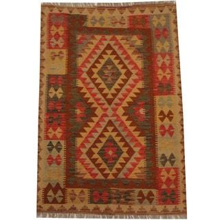 Herat Oriental Afghan Hand-woven Tribal Kilim (3'5 x 5')