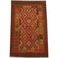Herat Oriental Afghan Hand-woven Tribal Wool Kilim (3'3 x 4'11)