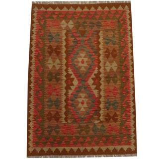 Herat Oriental Afghan Hand-woven Tribal Kilim (3'4 x 4'10)