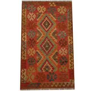Herat Oriental Afghan Hand-woven Tribal Kilim (3'1 x 5'2)