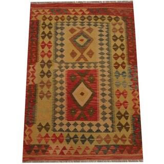 Herat Oriental Afghan Hand-woven Tribal Kilim (3'6 x 5')