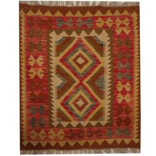 Herat Oriental Afghan Hand-woven Tribal Kilim (2'7 x 3')