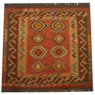 Herat Oriental Afghan Hand-woven Tribal Kilim (3'1 x 3'4)