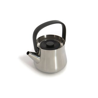 BergHOFF RON Black Stainless Steel 1.1-quart Teapot with Strainer