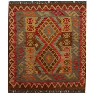 Herat Oriental Afghan Hand-woven Tribal Kilim (2'8 x 2'10)