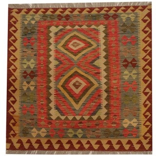 Herat Oriental Afghan Hand-woven Tribal Kilim (2'11 x 2'11)