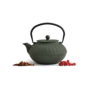 BergHOFF Studio Dark Green Cast Iron 1.6-quart Teapot