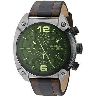 Diesel Men's DZ4414 'Overflow' Chronograph Two-Tone Leather Watch