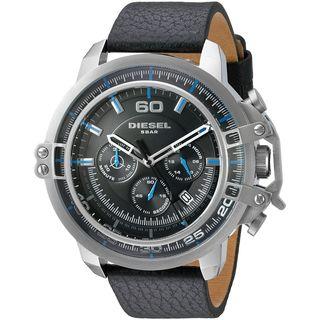 Diesel Men's DZ4408 'Deadeye' Chronograph Black Leather Watch