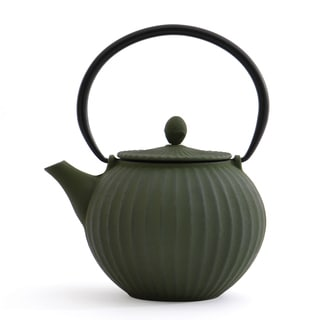 Studio Dark Green Cast Iron 44.8-ounce/1.4-quart Teapot