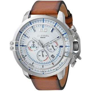 Diesel Men's DZ4406 'Deadeye' Chronograph Brown Leather Watch