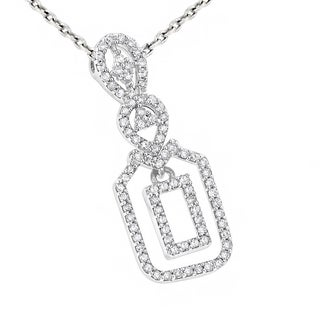 Luxurman 14K Gold Ladies Diamond Pendant 0.26ct