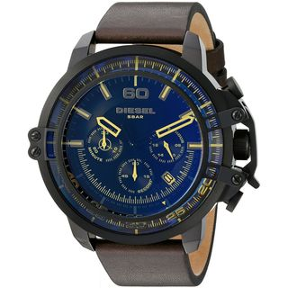 Diesel Men's DZ4405 'Deadeye' Chronograph Brown Leather Watch