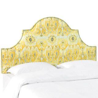 Skyline Furniture Alessandra Lemon Nail Button High Arch Notched Headboard