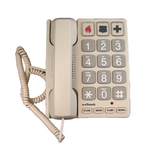 Cortelco ezTouch Sandstone Big-button Feature Corded Phone