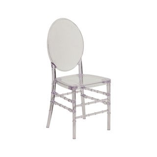 Offex Home Indoor/Outdoor Elegance Crystal Ice Stacking Florence Chair