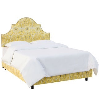 Skyline Furniture Alessandra Lemon Nail Button High Arch Notched Bed
