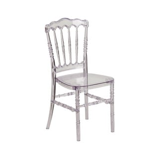 Offex Home Elegance Crystal Ice Stacking Napoleon Chair