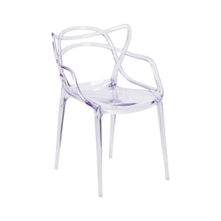 Offex Nesting Series Home Outdoor Transparent Stacking Side Chair