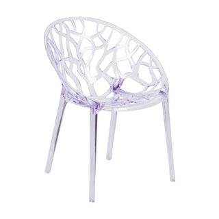 Offex Specter Series Home Outdoor Transparent Stacking Side Chair
