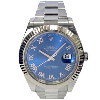 Pre-owned 41mm Rolex Stainless Steel Datejust II Watch