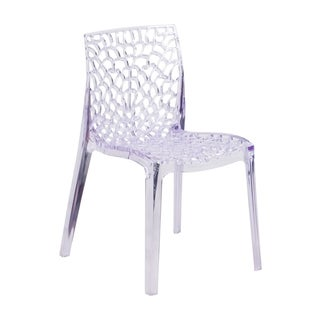 Offex Vision Series Home Outdoor Transparent Stacking Dining Chair