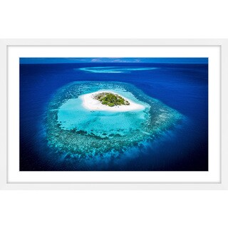 Marmont Hill - 'White Sand Island' by Francesco Cattuto Framed Painting Print