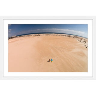 Marmont Hill - 'Lone Surfer's View' by Karolis Janulis Framed Painting Print