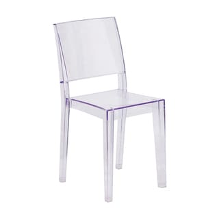 Offex Phantom Series Home Outdoor Transparent Stacking Side Chair