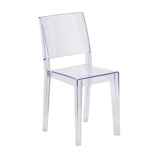 Offex Phantom Series Home Outdoor Transparent Stacking Dining Chair