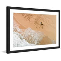 Marmont Hill - 'Lapping the Sand' by Karolis Janulis Framed Painting Print - Multi