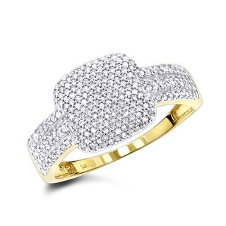 Luxurman Ladies Pave Diamond Ring 14K 0.60ct (H-I; SI2-I1)