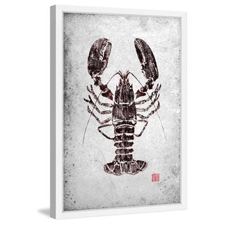 Marmont Hill - 'Maine Lobster' by Dwight Hwang Framed Painting Print