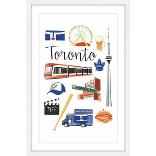 Marmont Hill - 'Travel Toronto' by Molly Rosner Framed Painting Print