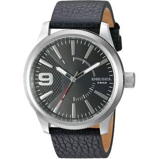 Diesel Men's DZ1766 'Rasp' Black Leather Watch