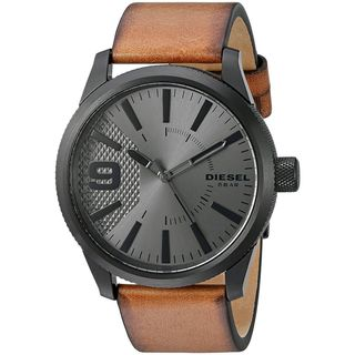 Diesel Men's DZ1764 'Rasp' Brown Leather Watch
