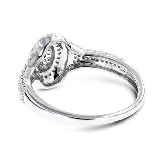 Luxurman Diamond Oval Shaped Ring 14K 0.33ct (H-I, SI2-I1)