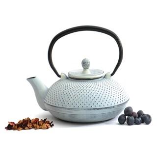 BergHOFF Studio White Dot Cast Iron 3-cup Teapot
