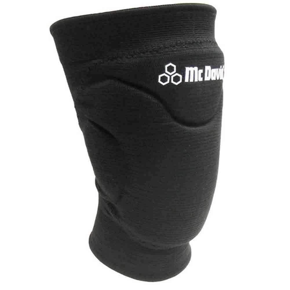 McDavid Classic 602 Black Knee Pads/Elastic Sleeves (Black Small)