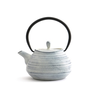 BergHOFF Studio White Cast Iron/Stainless Steel/Enamel 38.4-ounce/1.2-quart Teapot