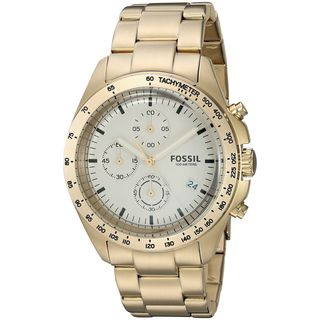 Fossil Men's CH3037 'Sport 54' Chronograph Gold-Tone Stainless Steel Watch