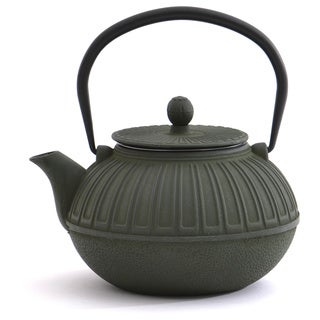 Dark Green Cast Iron 3.5-cup Capacity Teapot
