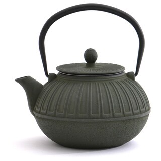 Dark Green Cast Iron 3.5-cup Capacity Teapot